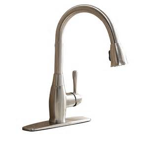 polished nickel kitchen faucet aquasource fp4a4057 1 handle pull kitchen faucet
