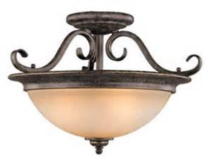 mont blanc 3 light 18 quot aztec bronze semi flush ceiling