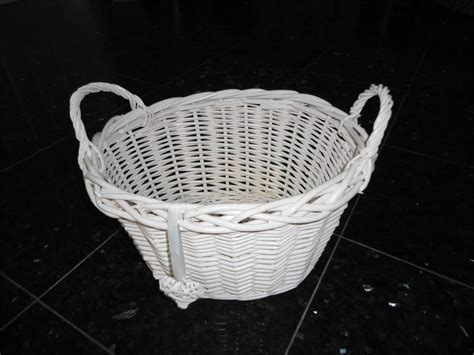 shabby chic storage baskets white french shabby chic wicker easter egg hunt kitchen crafts storage basket ebay