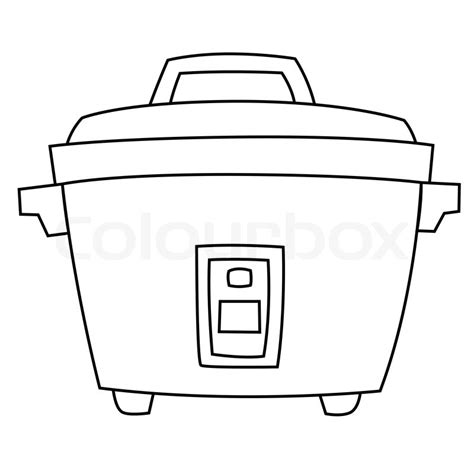element cuisine rice cooker stock vector colourbox