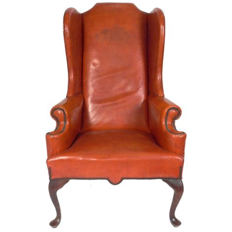 wingback chair cognac leather wingback chair at 1stdibs