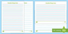 twinkl handwriting lined paper  journey  handwriting guide lines
