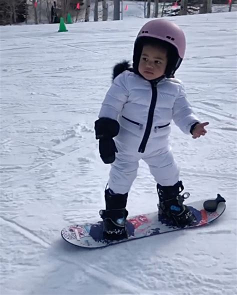 Insiders say there is a lot of love there still between the two of them. Stormi Webster Shows Off Her Snowboarding Skills on the Slopes