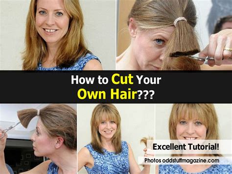 how to style your own hair how to cut your own hair 8989
