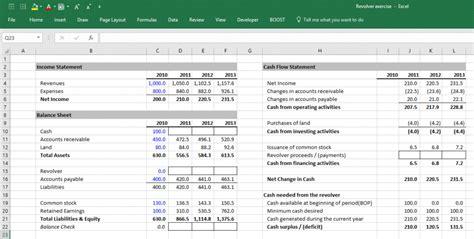 modeling  revolving credit   excel