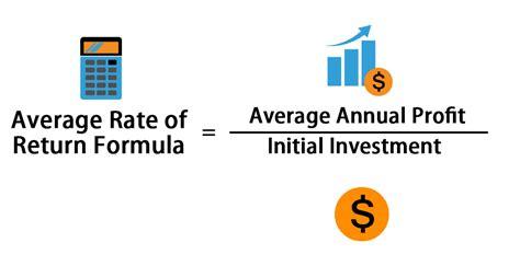 average rate  return formula calculator excel template