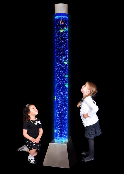 6 foot tall lava l 6 ft colour changing led sensory mood bubble water tower