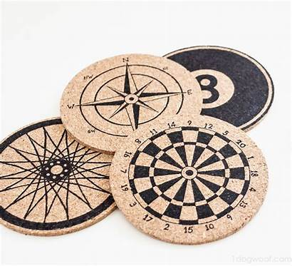 Coasters Diy Cork Stenciled Coaster Drink Awesome