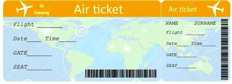 airplane ticket printable template template update