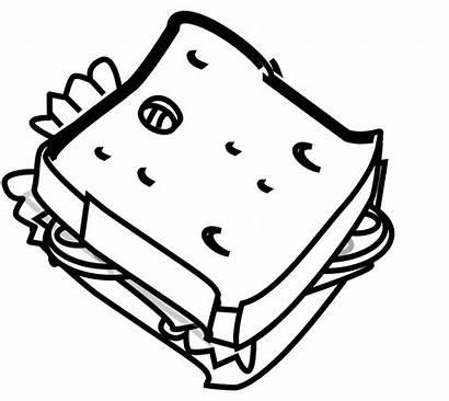 Sandwich Clipart Clip Cheese Line Vector Half