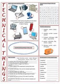 Technical Things Vocabulary Exercises worksheet - Free ESL