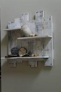 white pallet wood shelf wall decor white reclaimed wood wall With white wall decor