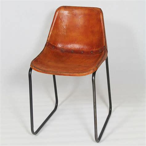 chaise cuir vintage chaise industrielle cuir et structur metal 07