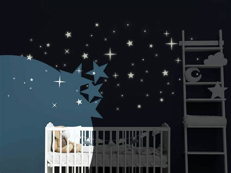 Leuchtsterne  Sternenhimmel Für Die Wand Wandtattoosde