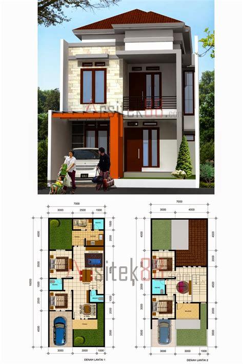 desain rumah minimalis  lantai  dimensi gambar foto