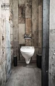 Papier Peint Effet Lambris : d coration int rieure wc toilettes papier peint trompe ~ Zukunftsfamilie.com Idées de Décoration