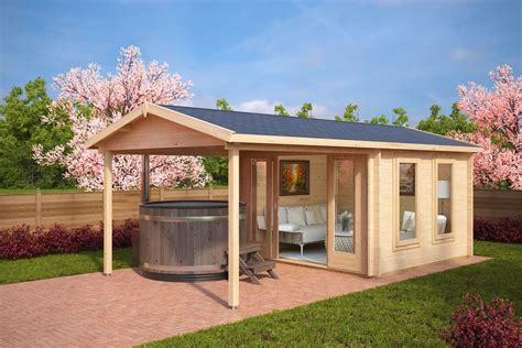 house canape summer house with canopy nora e 9m 44mm 3 x 3 m