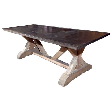 industrial looking dining room tables industrial style steel top dining table