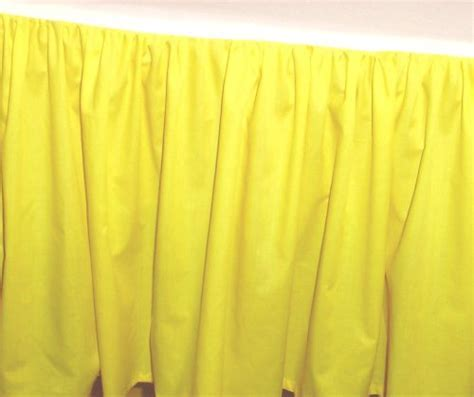 Solid Lemon Yellow Colored Bedskirt (in all sizes from