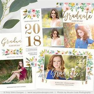 graduation announcement templates the bloom collection With free senior templates for photoshop