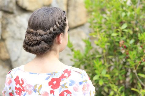 Lace Rolled Updo Hairstyle