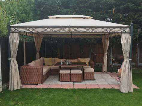marques canap 3x4m metal gazebo pavilion awning canopy sun shade shelter