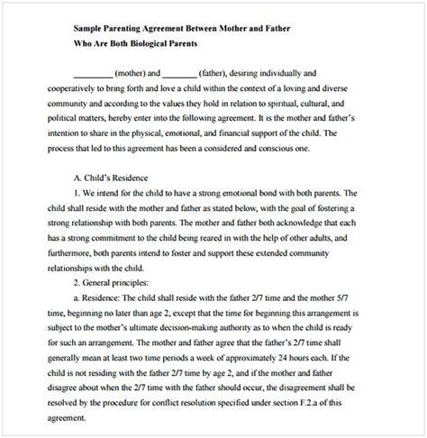 informal custody agreement danetteforda