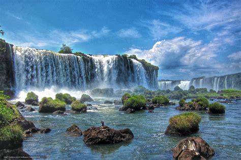 Tlcharger Fond d'ecran Iguazu Cascades, Il trouve dans la