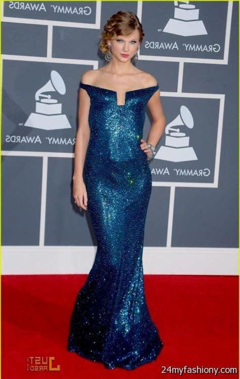 taylor swift blue dress grammys looks | B2B Fashion