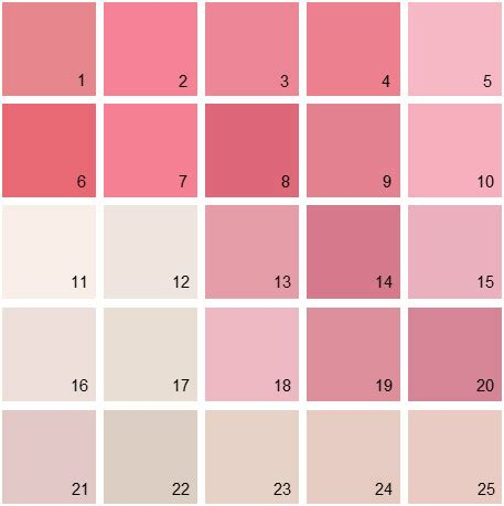 benjamin moore paint colors pink palette 09 house