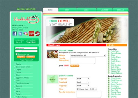 cuisine site webdesign studio sky7 nyc webdesign software
