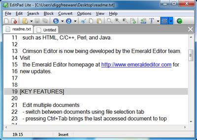 Simple And Excellent Free Text Editor For Windows