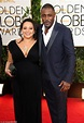 Idris Elba and pregnant girlfriend step out at the Golden ...