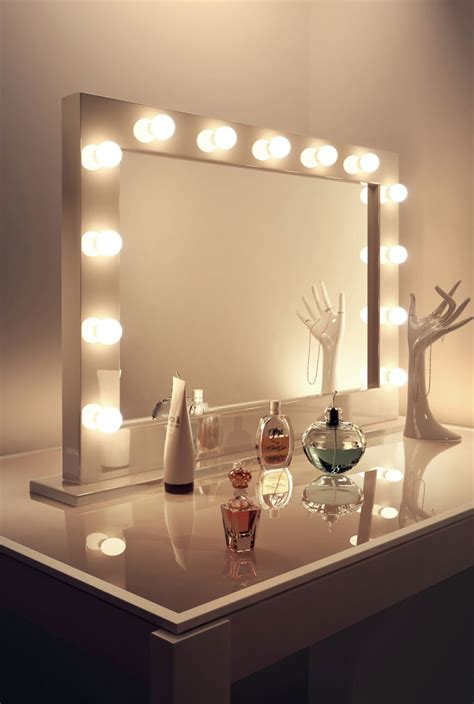 makeup desk with lights furniture diy black wood makeup table with framed mirror