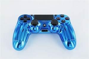 QuotBlue Diamondquot PS4 Custom Modded Controller REAL CHROME