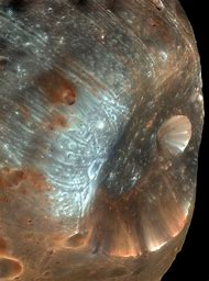 Phobos Stickney Crater On