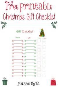 free printable christmas gift checklist