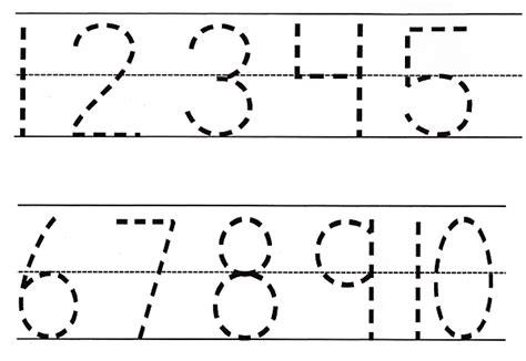 Number Tracing Prek Worksheets  National Kindergarten Readiness