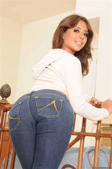 Jynx Maze in sexy jeans and socks stripping and posing on bed - My Pornstar Book