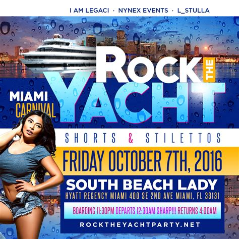 Miami Boat Party Columbus Day Weekend by Rock The Yacht Shorts And Stilettos Edition Miami Carnival