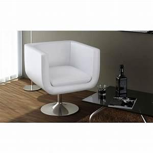 Fauteuil Design Blanc : acheter fauteuil design club blanc x2 pas cher ~ Teatrodelosmanantiales.com Idées de Décoration