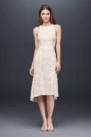 knee length lace sheath dress  flounce hem davids