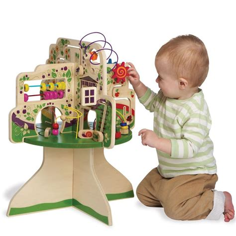 baby activity table wooden tree top adventure activity table educational