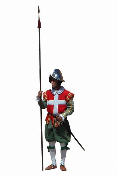 Middle Ages Soldier Landsknecht Mercenary Uniforms Infantry