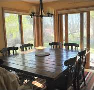 Farmhouse Dining Room Table Seats 12 by Ana White Farmhouse Table Squared DIY Projects
