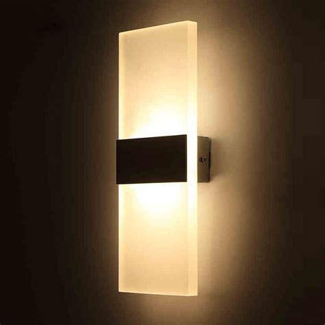 aliexpress com buy 3w 5w 6w led acrylic wall l ac85 265v wall mounted sconce lights l