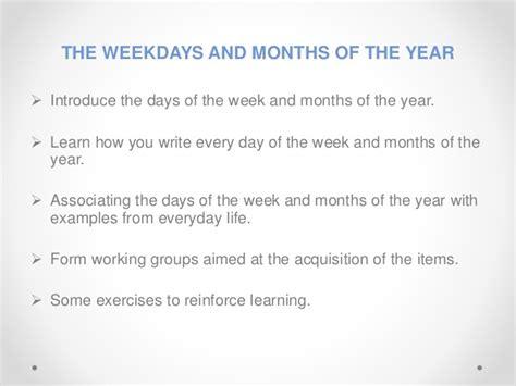 days   week  months   year