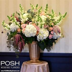 ceremony flowers posh altar arrangement seattle wedding With wedding ceremony flower arrangements altar