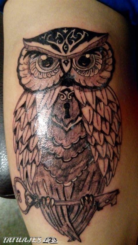 buho llave tatuajes