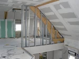 Pose Rail Placo Plafond : poser placo plafond la pose du placo au plafond ma maison ~ Dailycaller-alerts.com Idées de Décoration
